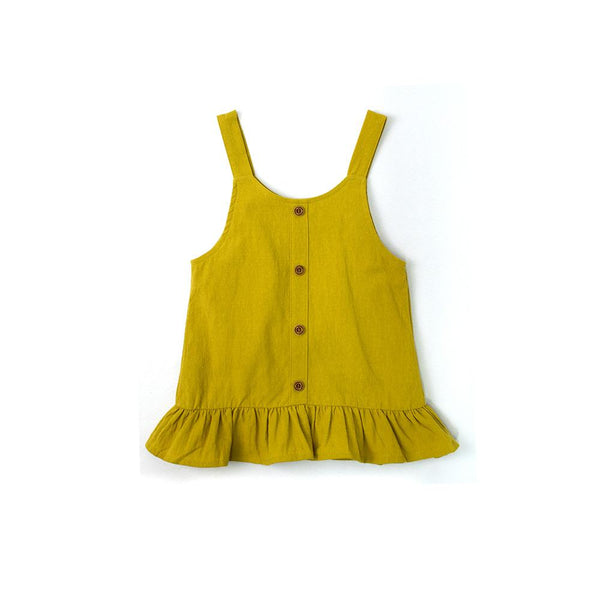 MELON Kids Girl Ruffles Dress, Corn yellow