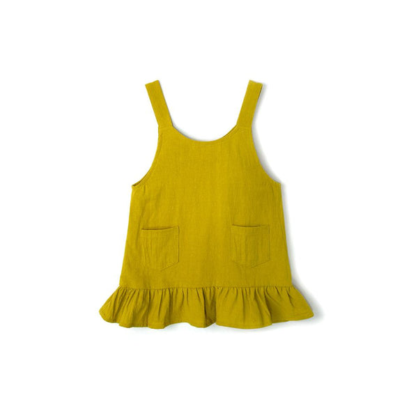 *Size 110 & 130 only* Ruffles Dress, Corn