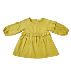 MELON Kids Girl Tunic Dress, Corn yellow