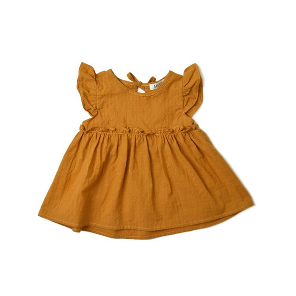 MELON Kids Girl Babydoll Top, Ginger brown