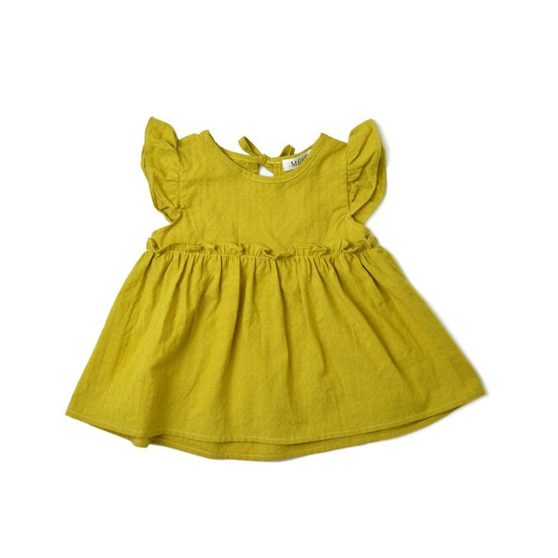 MELON Kids Girl Babydoll Top, Corn yellow