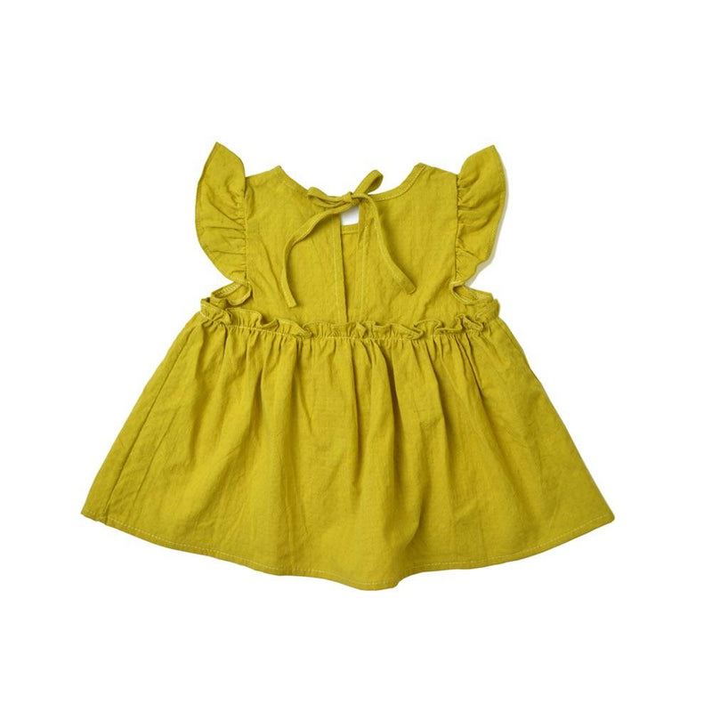 *Size 90 & 100 only* Babydoll Top, Corn