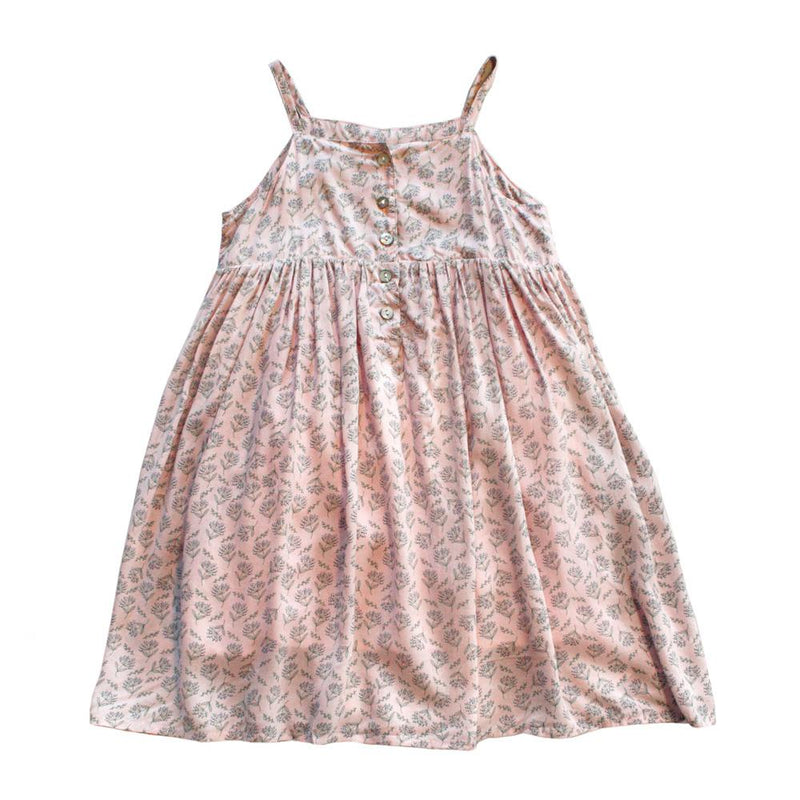 *Size 90 only* Floral Midi Dress, Blush