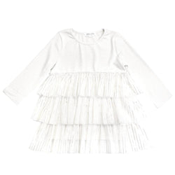 MELON Kids Girl Tulle Dress, Daisy White