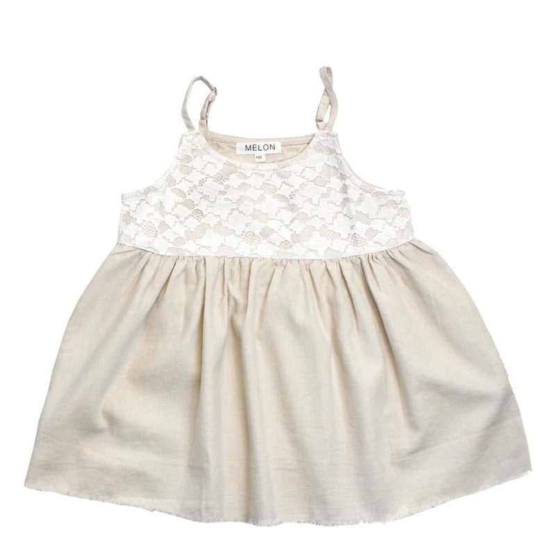 MELON Kids Girl Babydoll Dress/Top, Buttermilk Creme