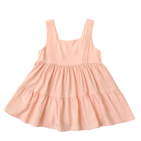 Square Neck Dress, Peach