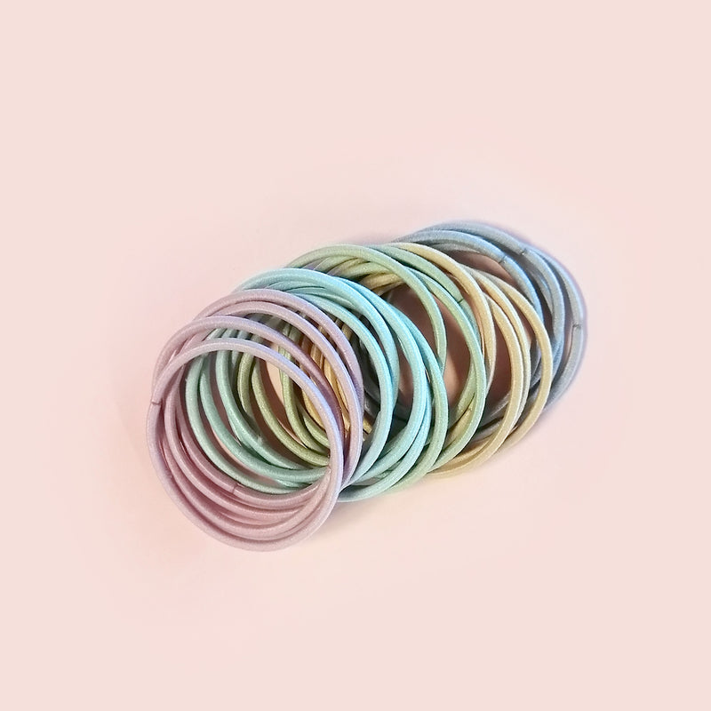 Pastel Hair Tie Set of 20