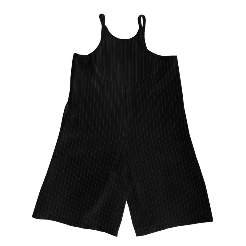 Baggy Playsuit, Ebony with stripes