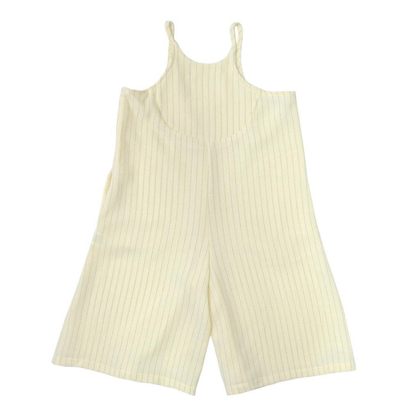 Baggy Playsuit, Cream with stripes