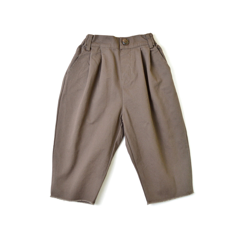 MELON Kids Boy Loose Straight Ankle Pants, Mocha Brown