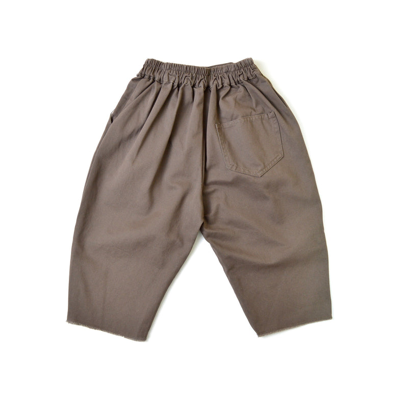 Loose Straight Ankle Pants, Mocha