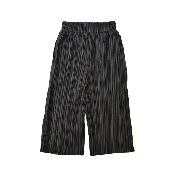 *Size 90 only* Pleated Culottes, Ebony