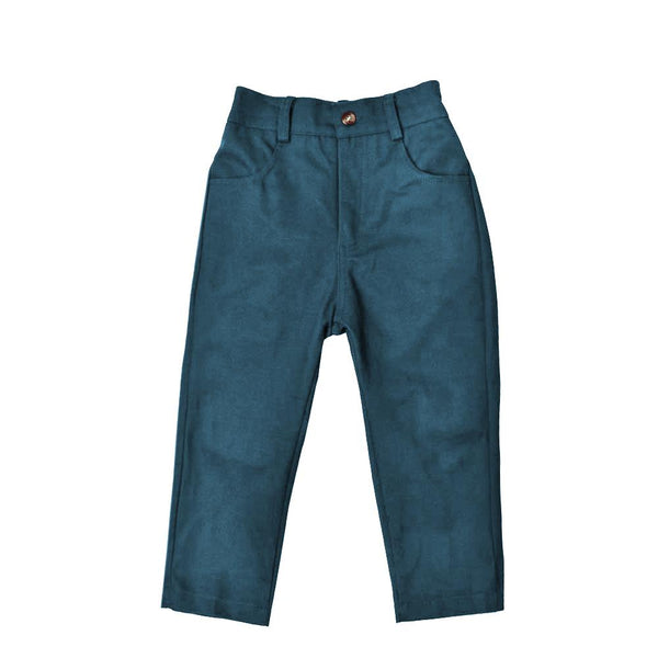 MELON Kids Boy Slim Fit Ankle Pants, Deep Teal