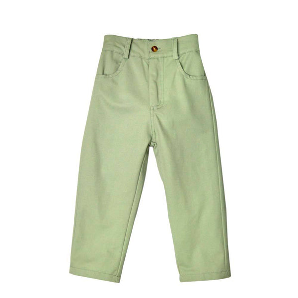 MELON Kids Boy Slim Fit Ankle Pants, Pistachio Green