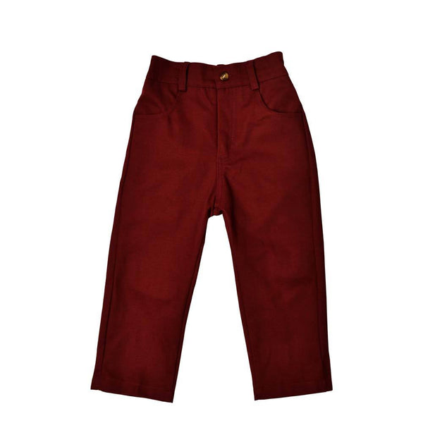 *Must-have* Slim Fit Ankle Pants, Wine
