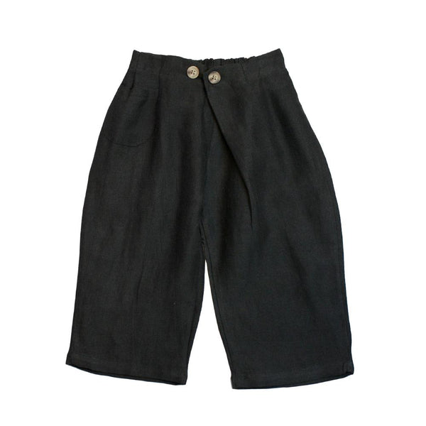 MELON Kids Boy Baggy Culottes, Charcoal Black