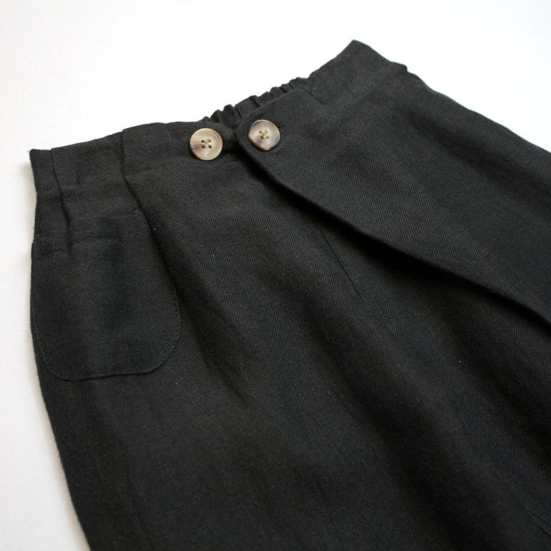*Size 100 & 120 only* Baggy Culottes, Charcoal