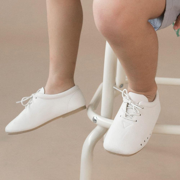 Kids Classy Dress Shoes, Daisy white