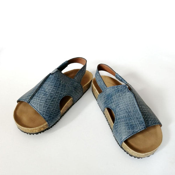 *Last Pair* Slip-on Mule Sandals, Navy