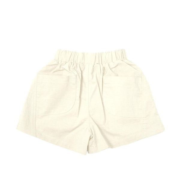 Boxy Cotton Shorts, Porcelain White