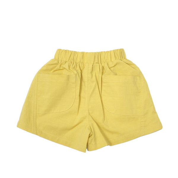 Boxy Cotton Shorts, Dandelion Yellow
