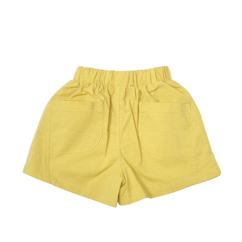*NEW* Boxy Cotton Shorts, Dandelion Yellow