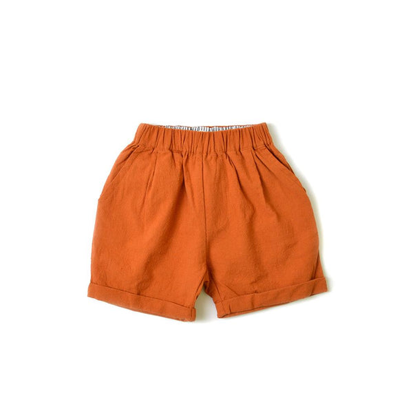 MELON Kids Boy/Girl Trouser Shorts, Cider orange
