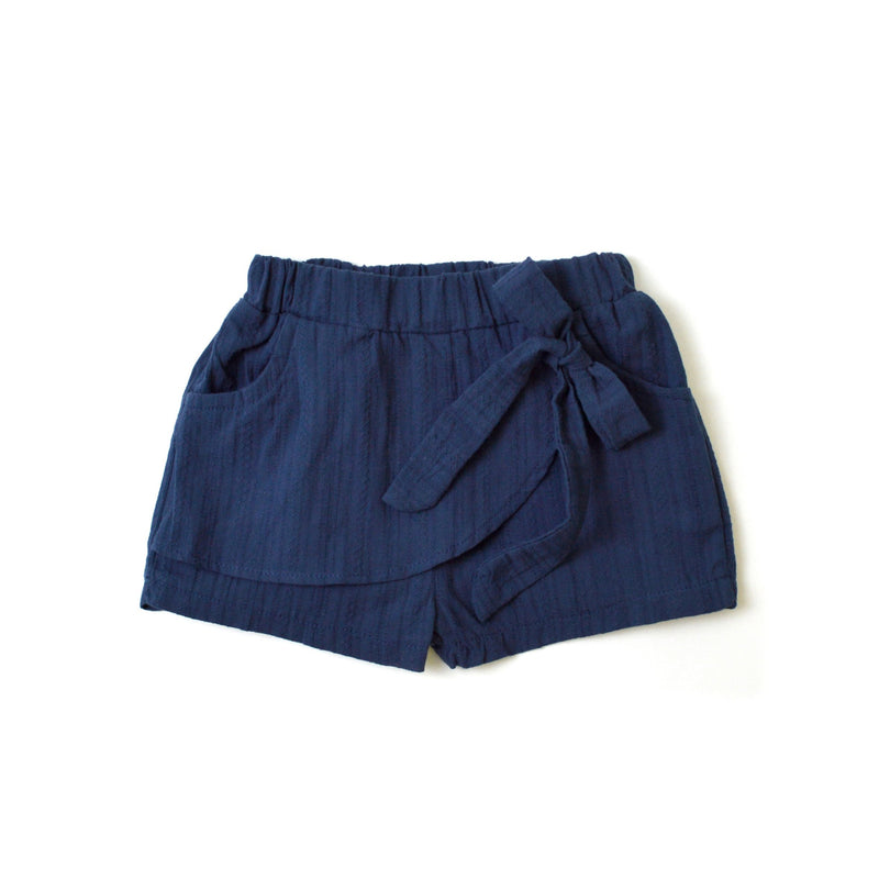 MELON Kids Girl Bow Shorts, Navy Blue