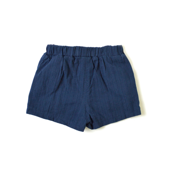 *Size 110 & 120 only* Bow Shorts, Navy