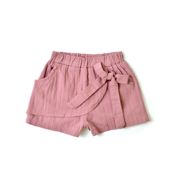 MELON Kids Girl Bow Shorts, Grape Pink