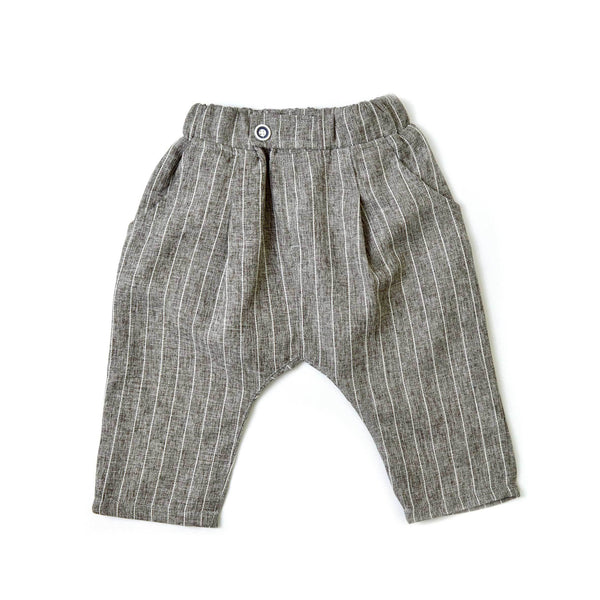 MELON Kids Boy Harem Pants, Pebble with stripes