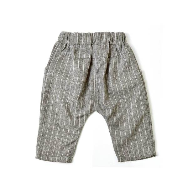 *Size 100 only* Harem Pants, Pebble with stripes