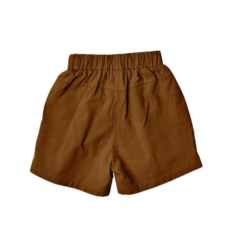 Cotton Linen Bermudas, Coffee