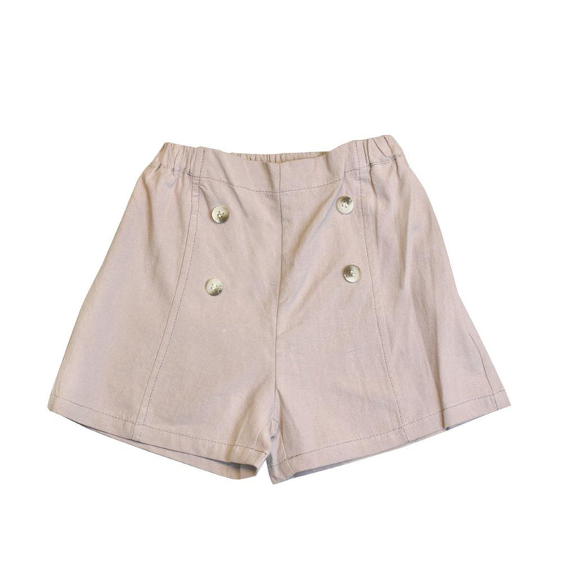 MELON Kids Girl Cotton Shorts, Oat Brown