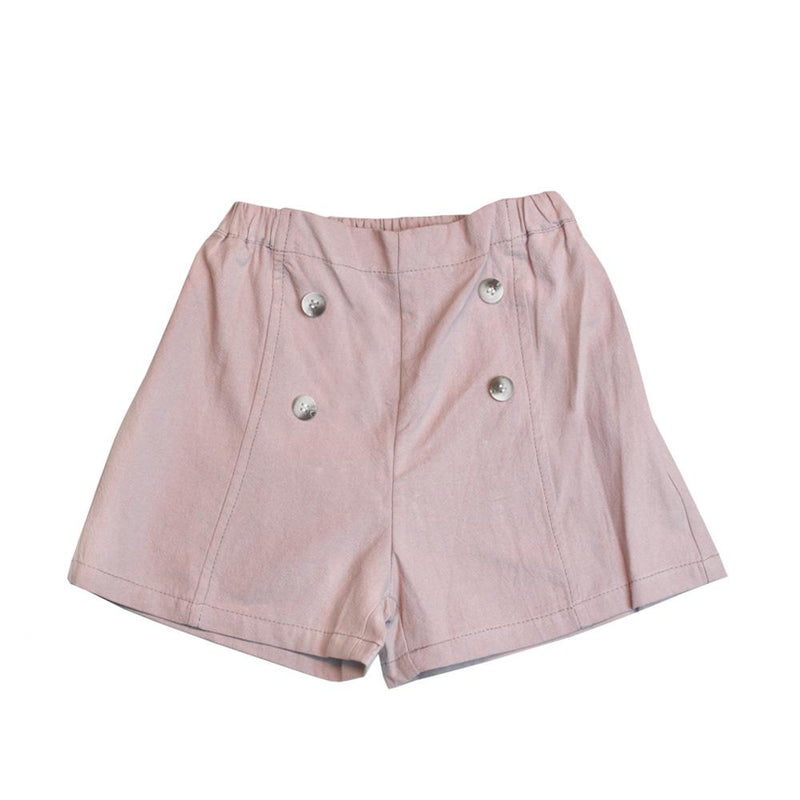 MELON Kids Girl Cotton Shorts, Blush PInk