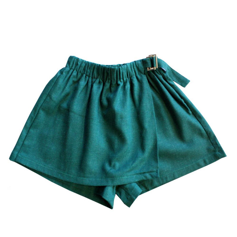 Cotton Skorts, Basil