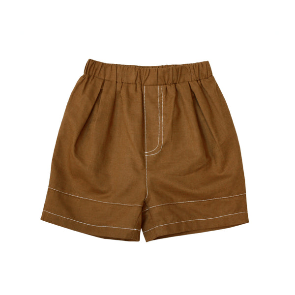 *Hot Fave* Cotton Bermudas, Coffee Brown