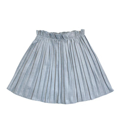 Velvet Accordion Skirt, Sky