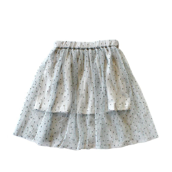 MELON Kids Girl Tulle Skirt, Stone Blue