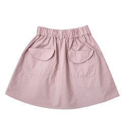 Flare Mini Skirt, Crepe Pink