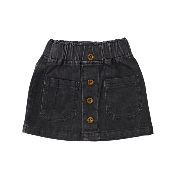 MELON Kids Girl Mini Skirt, Ebony black