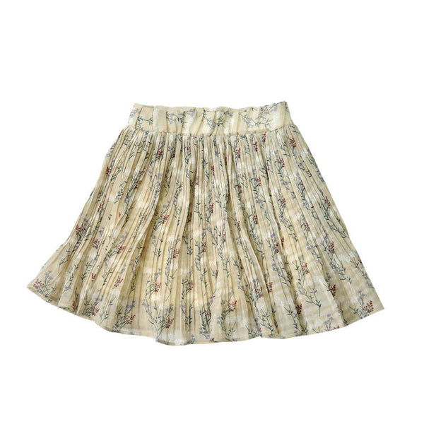 *Last Piece* Pleated Chiffon Skirt, Parchment