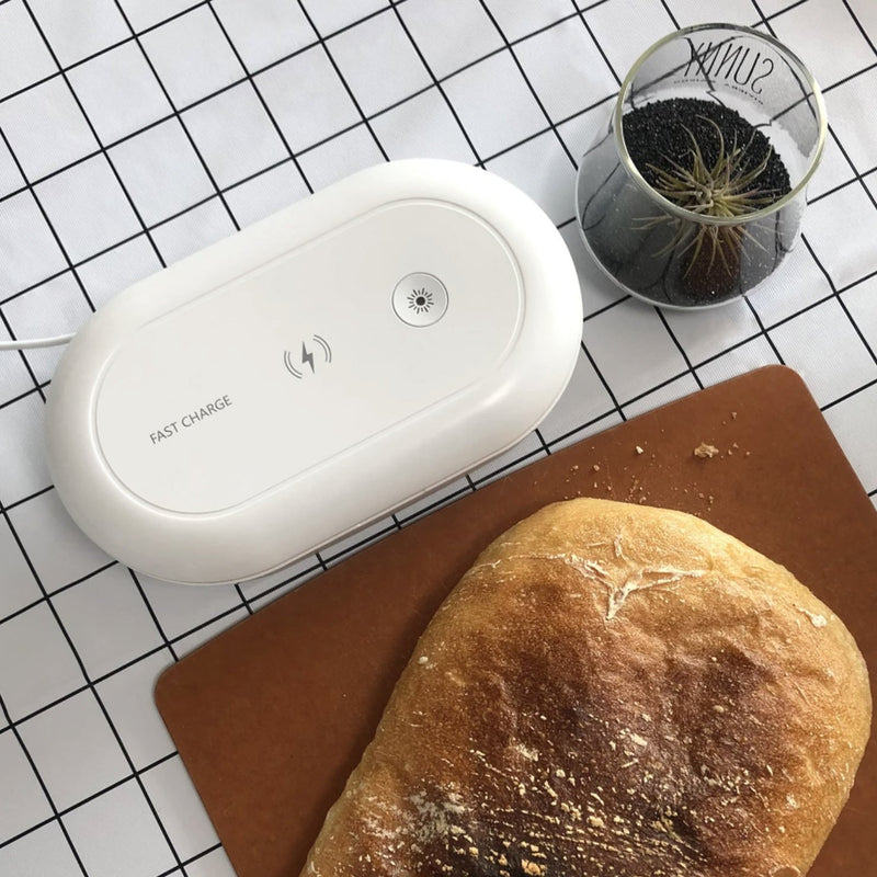 MULTI-FUNCTIONAL UVC STERILISER STATION WITH 10W QI WIRELESS CHARGER
