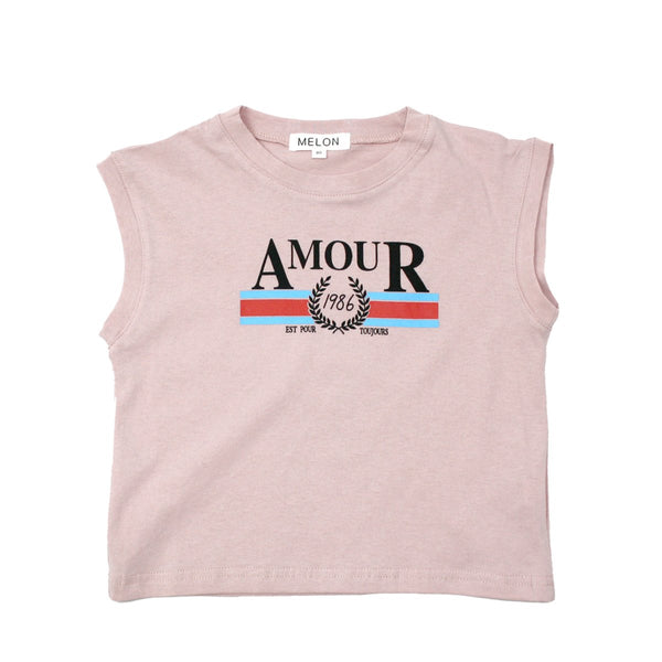 MELON Kids Boy and Girl Cotton Statement Tee, Rouge Pink
