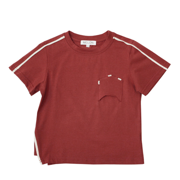 Soft Cotton Top, Garnet Red