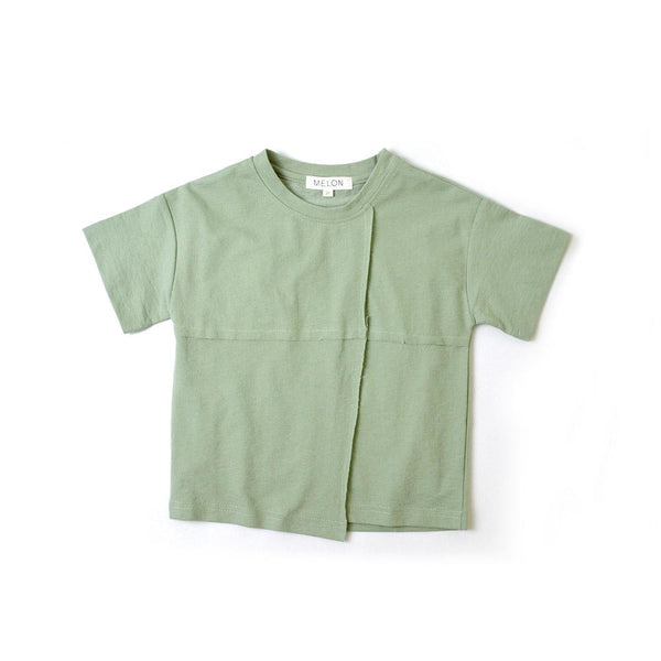 MELON Kids Boy Cotton T-shirt, Pickle green
