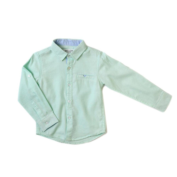 MELON Kids Boy French Collar Shirt, Mint