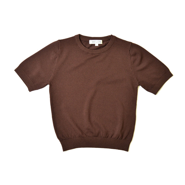 Cool Cotton Knit Top, Mocha