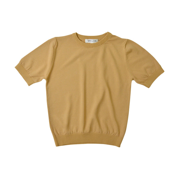 MELON Kids Cool Cotton Knit Top, Tortilla Brown