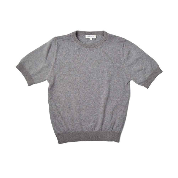 MELON Kids Cool Cotton Knit Top, Coin Grey